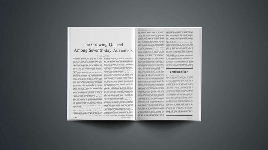The Growing Quarrel among Seventh-Day Adventists