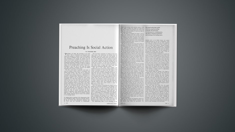 Preaching Is Social Action