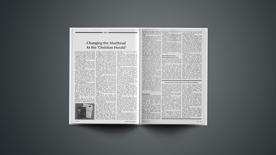 Changing the Masthead at the 'Christian Herald'