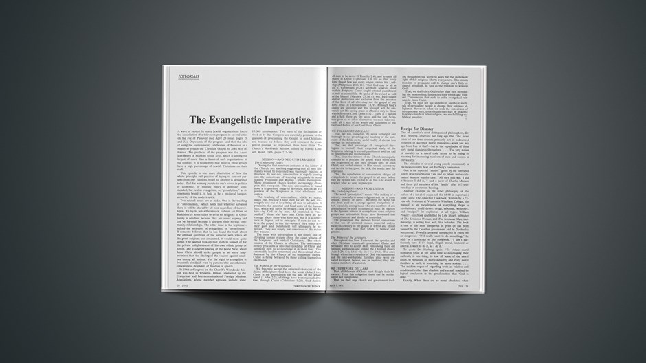 The Evangelistic Imperative