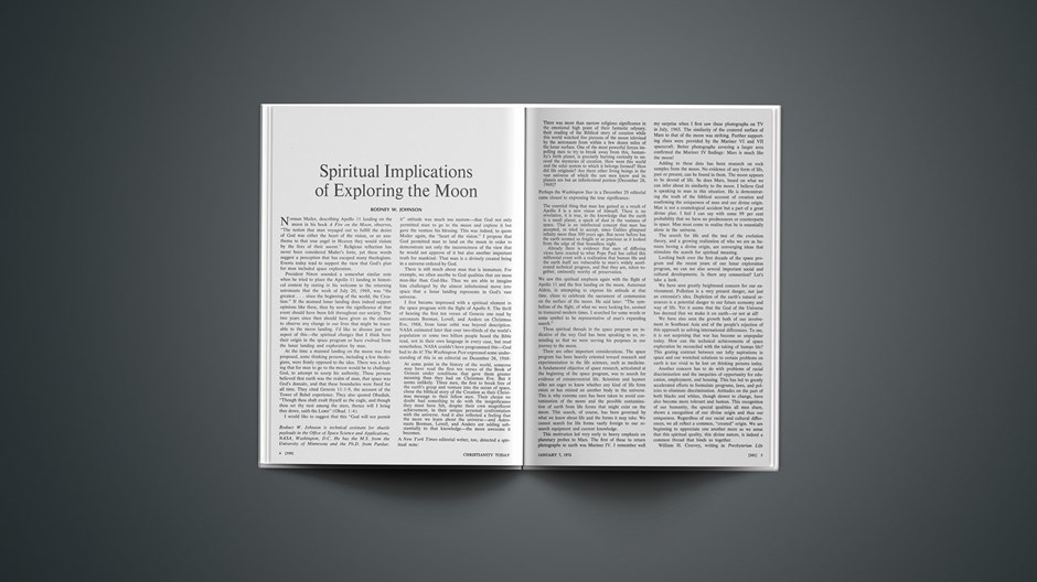 Spiritual Implications of Exploring the Moon
