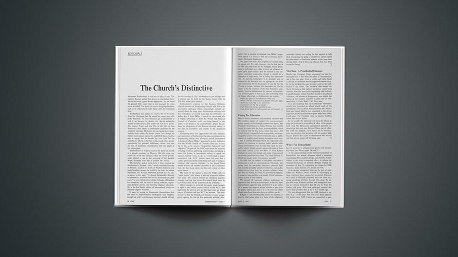 The Church's Distinctive