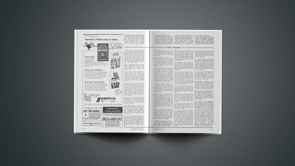 Book Briefs: October 13, 1972