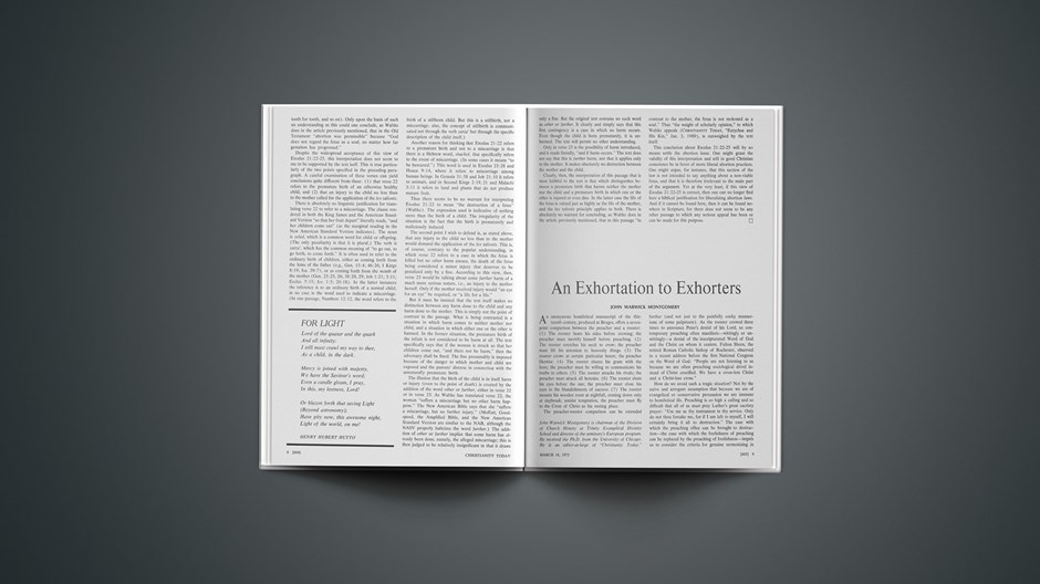 An Exhortation to Exhorters