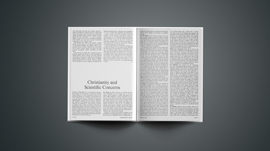 Christianity and Scientific Concerns