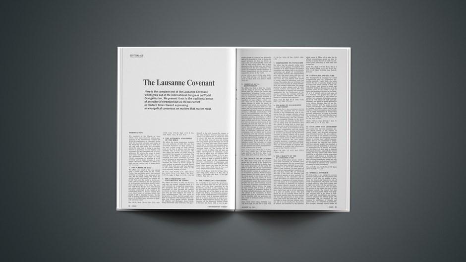 The Lausanne Covenant