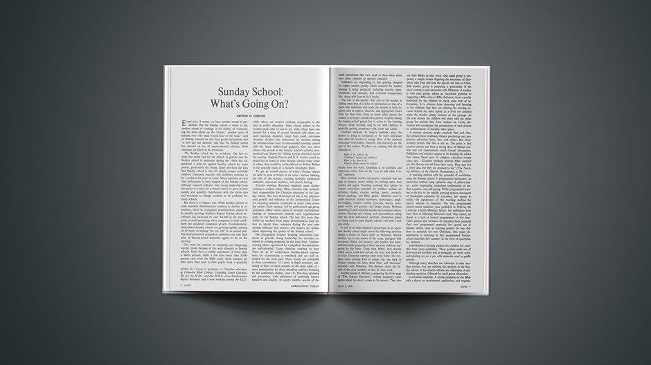 Sunday School: What's Going On?