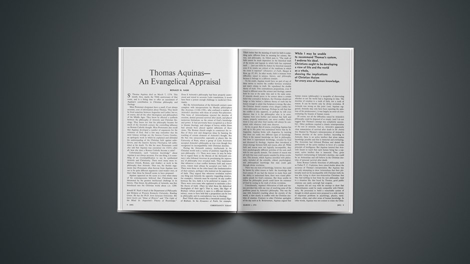 Thomas Aquinas—An Evangelical Appraisal
