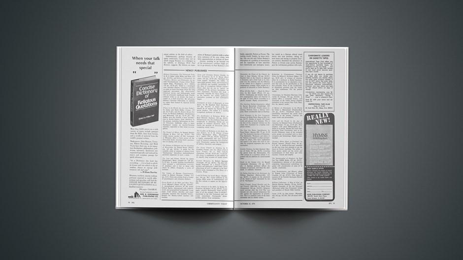 Book Briefs: October 25, 1974