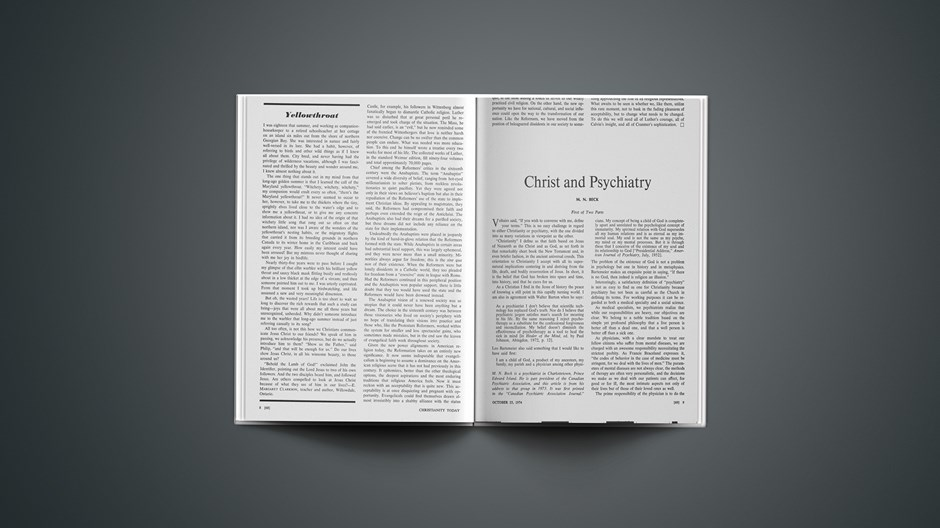 Christ and Psychiatry