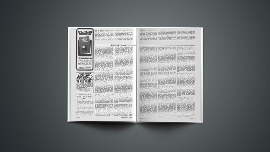 Book Briefs: August 29, 1975