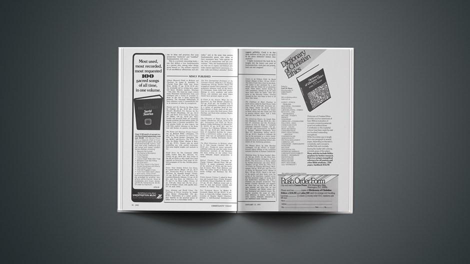 Book Briefs: January 17, 1975