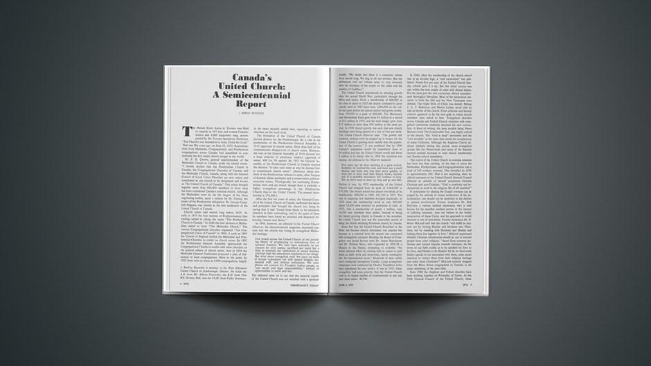 Canada's United Church: A Semicentennial Report
