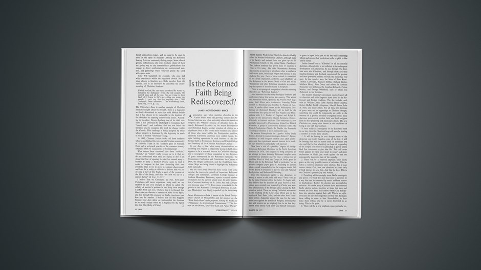 Is the Reformed Faith Being Rediscovered?